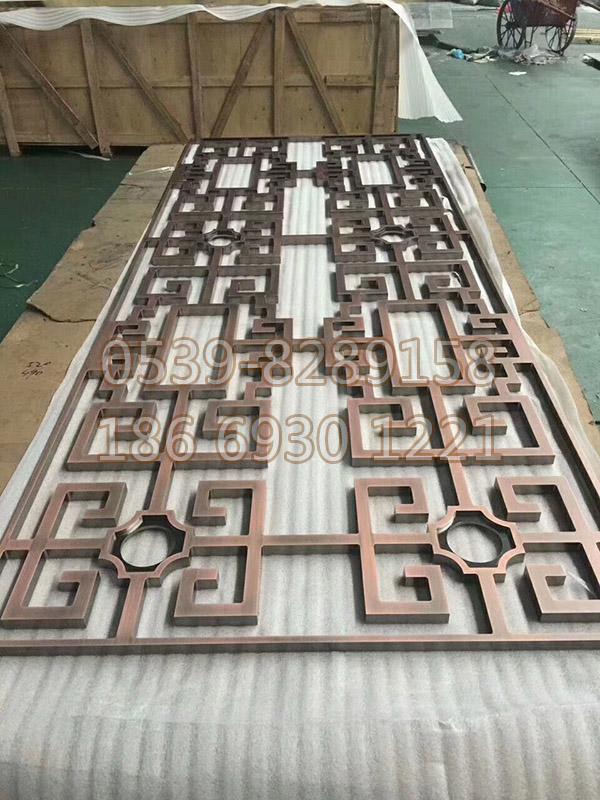 不锈钢镀铜屏风 SY-03