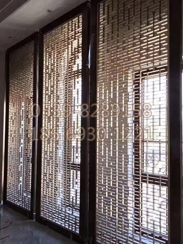 中式青铜不锈钢花格SY-128