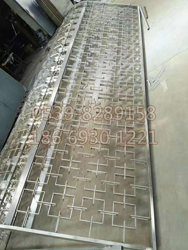 不锈钢花格屏风SY-15
