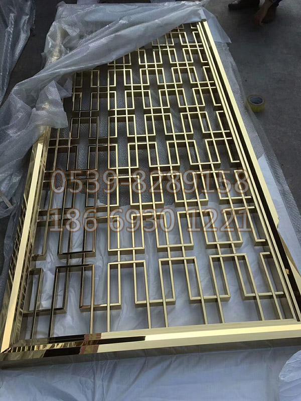 钛金不锈钢屏风 SY-99