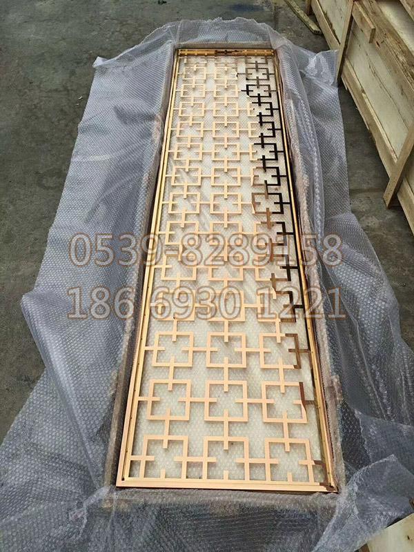 钛金不锈钢屏风 SY-107