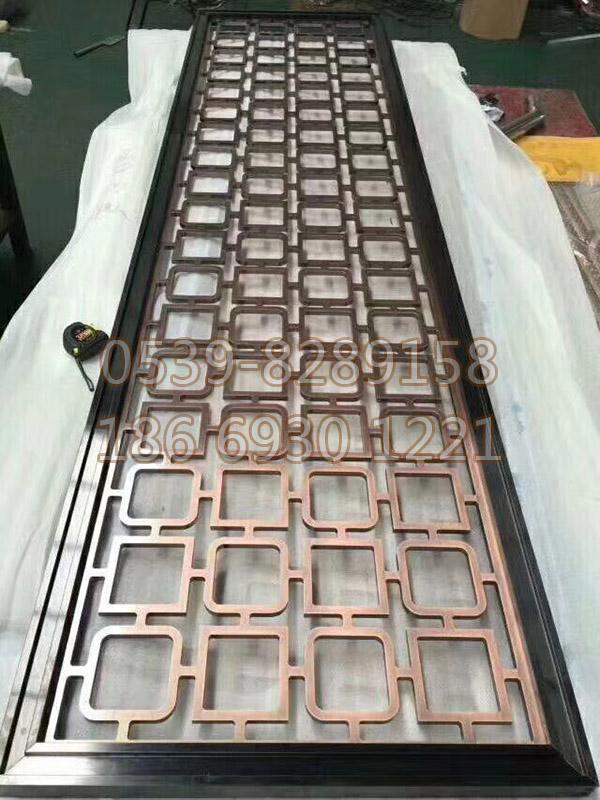 不锈钢镀铜屏风 SY-09
