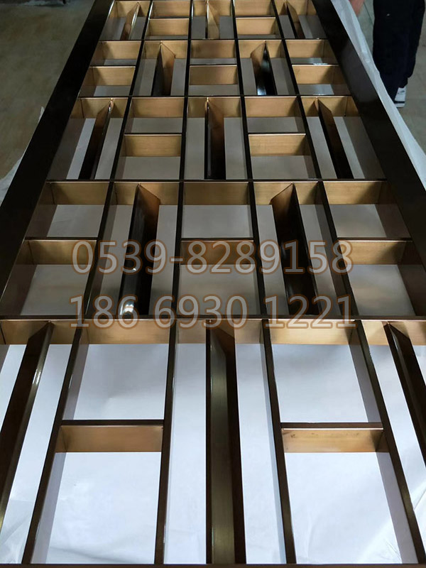 不锈钢镀铜屏风 SY-13