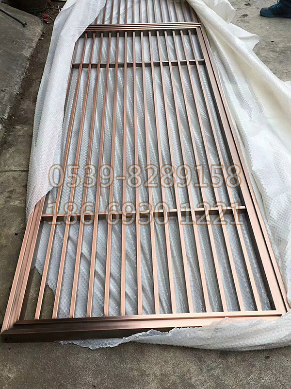不锈钢镀铜屏风 SY-05