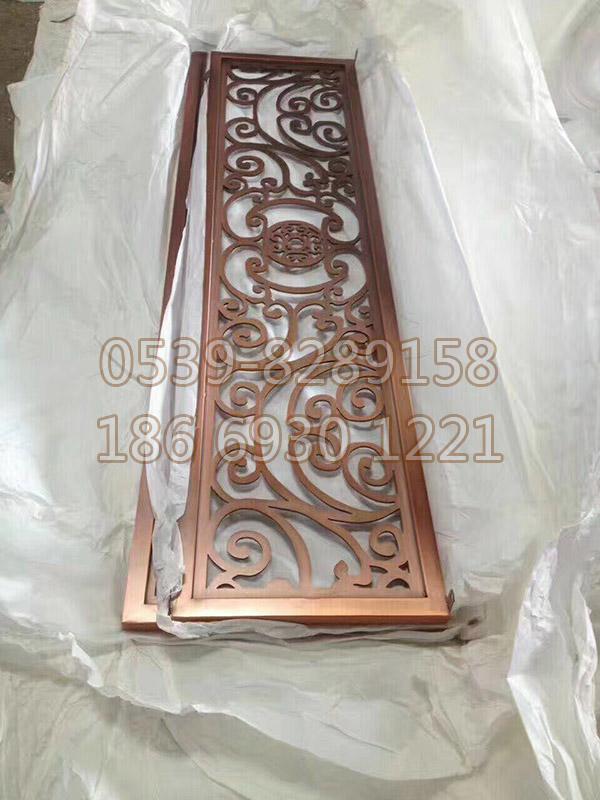 不锈钢镀铜屏风 SY-04
